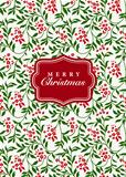 Vector Floral Christmas Background