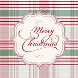 Vector Plaid Christmas Background