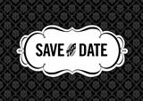 Vector Save the Date Ornate Frame