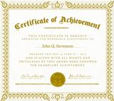 Vector Vintage Certificate of Achievement