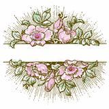 Vector Bright Watercolor Flowers