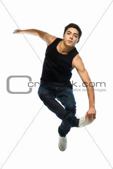 Young man jump