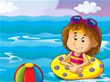 Cartoon kindergarten children