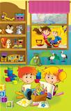 Cartoon kindergarten