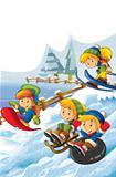 The winter fun kids