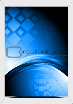 Bright blue vector design. Hi-tech style