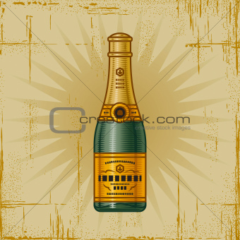 Retro Champagne Bottle