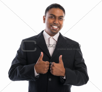 Thumbs up Indian businessman