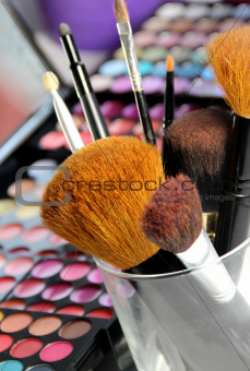 Big set of make-up brushes