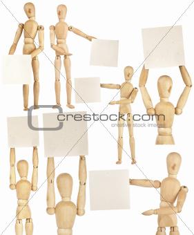 Set of wooden dummies