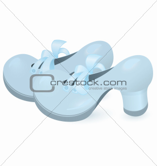 Blue shoe pair vector