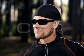 Portrait of an athletic man