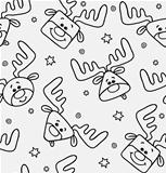 Black and white pattern with deers
