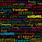 Colored typoghraphy with fashion words