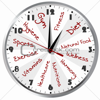 Conceptual clock for a healthy life