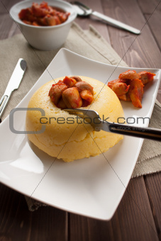 Mush with mushroom - Polenta e funghi