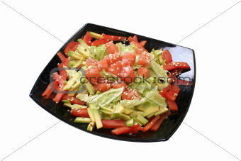 salad with a salmon