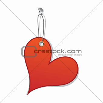 Heart love tag as valentine day symbol