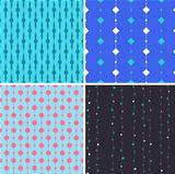 Seamless pattern with squares and circles on lines