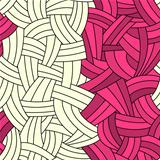 Seamless two colors hand-drawn lines background