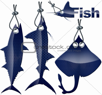 Set of Fish Tags - 4 Items