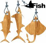 Set of Fish Tags - 4 Items