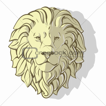 head of lion shadow