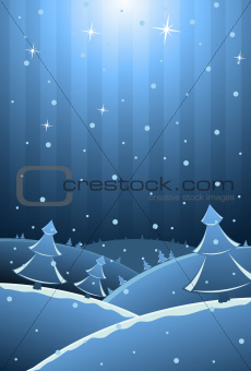 Vector illustration of New Year card with copy-space for your te