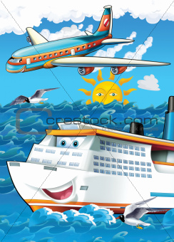 The big, happy cruise liner
