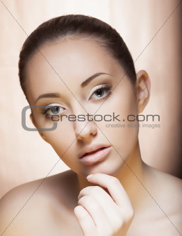 Fresh Young Woman Face - Spa Salon, Cosmetology concept