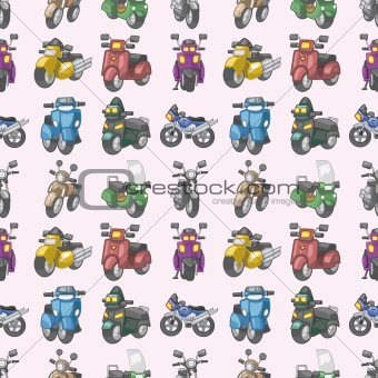 seamless motorcycles pattern