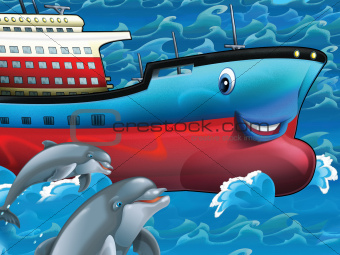 Happy tanker