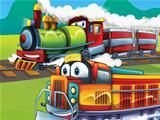 The cartoon locomotive - happy one