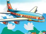Cartoon passenger aircraft