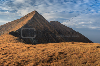 The Moldoveanu Peak in Fagaras Mountains