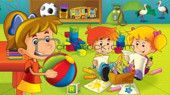 The cartoon kindergarten - fun and play