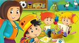 The cartoon kindergarten - fun and play