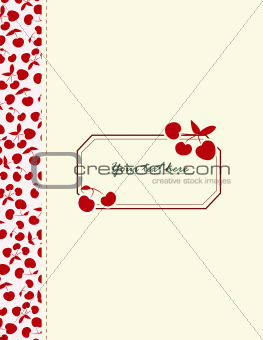 Card with cherries for your design