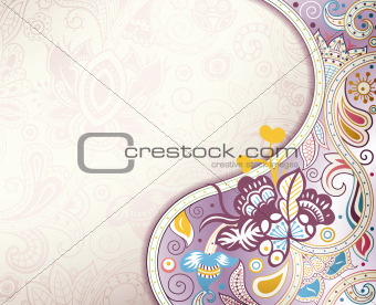 Abstract Lavender Floral Background