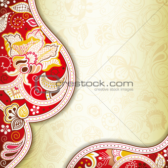 Abstract Red Floral Background
