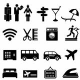 Hotel icon set