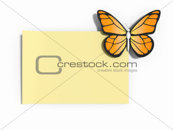 Note with a butterfly