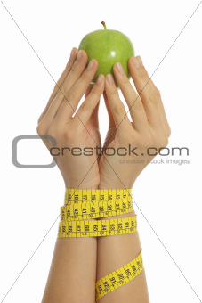 Slave diet woman hands