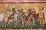 Mosaic the three magi in Sant Apollinare Nuovo in Ravenna
