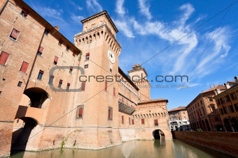 moat and The Castle Estense in Ferrara
