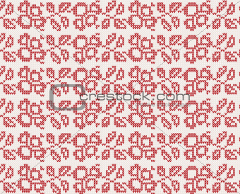 seamless knitted christmas background