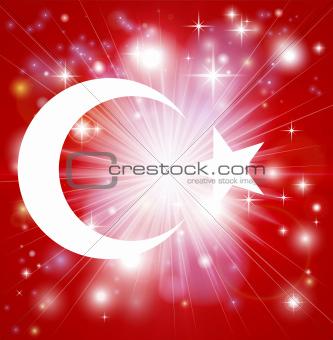 Turkish flag background