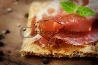 Dried pork collar salami