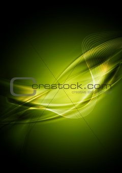 Bright green wavy abstraction