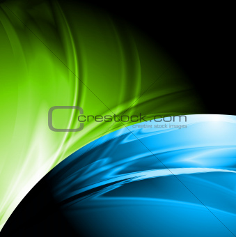 Abstract colourful design with waves